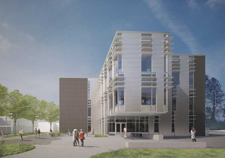 STEM and Nursing building rendering